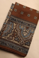 Brown and blue scarf