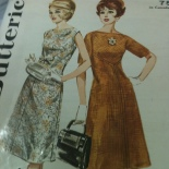 Photo of Butterick pattern from the 1960s.